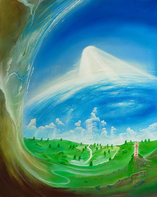 70,86% Wasser - Ölbild / Leinwand - Gemälde von  S t e r n h a g e l