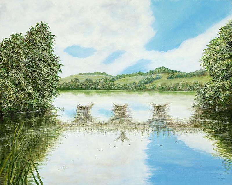Alte Brücke - Ölbild / Leinwand - Gemälde von  S t e r n h a g e l