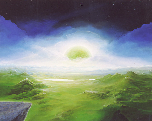 Aufgang des grünen Planeten - Ölbild / Leinwand - Gemälde von  S t e r n h a g e l