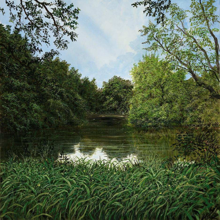 Berlin Tiergarten 1 - Ölbild / Leinwand - Gemälde von  S t e r n h a g e l