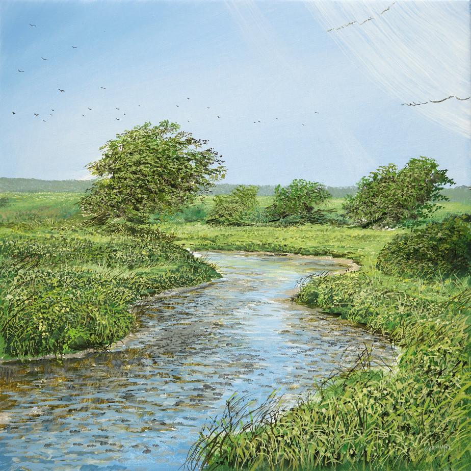 Bewegte Luft - Ölbild / Leinwand - Gemälde von  S t e r n h a g e l