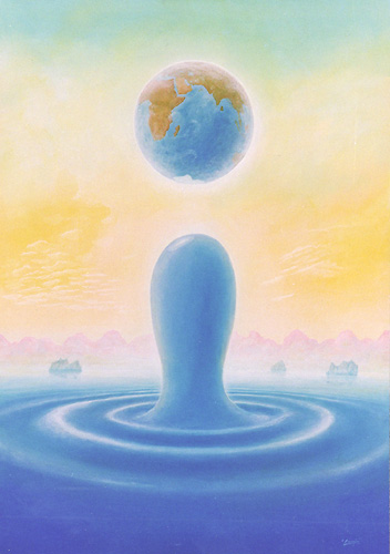 Blauer Planet - Ölbild / Leinwand - Gemälde von  S t e r n h a g e l
