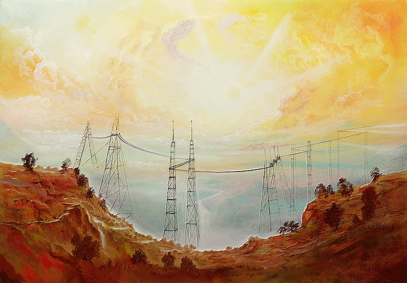 Brückenanatomie - Ölbild / Leinwand - Gemälde von  S t e r n h a g e l