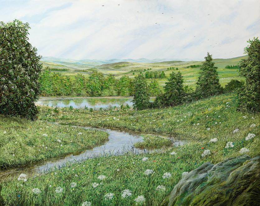 Das Sein lassen - Ölbild / Leinwand - Gemälde von  S t e r n h a g e l