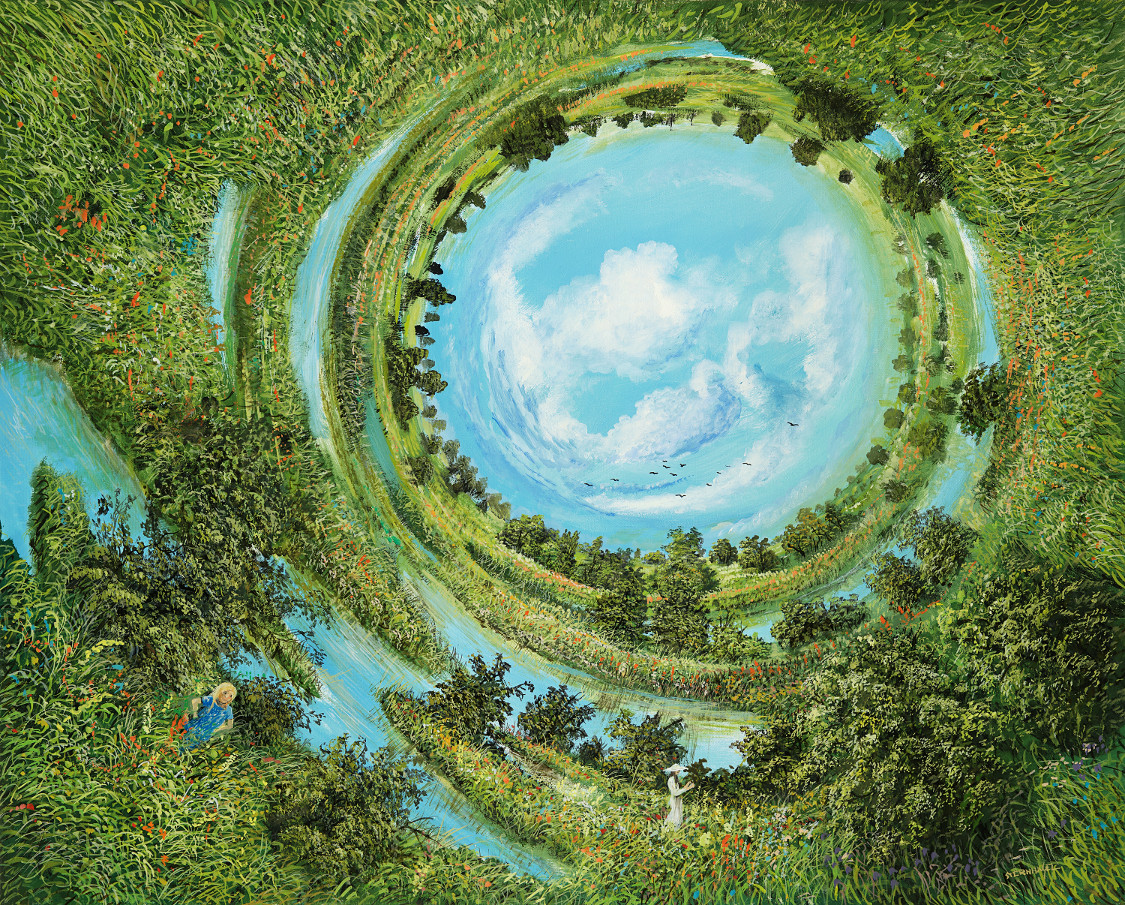 Der Rundweg - Ölbild / Leinwand - Gemälde von  S t e r n h a g e l