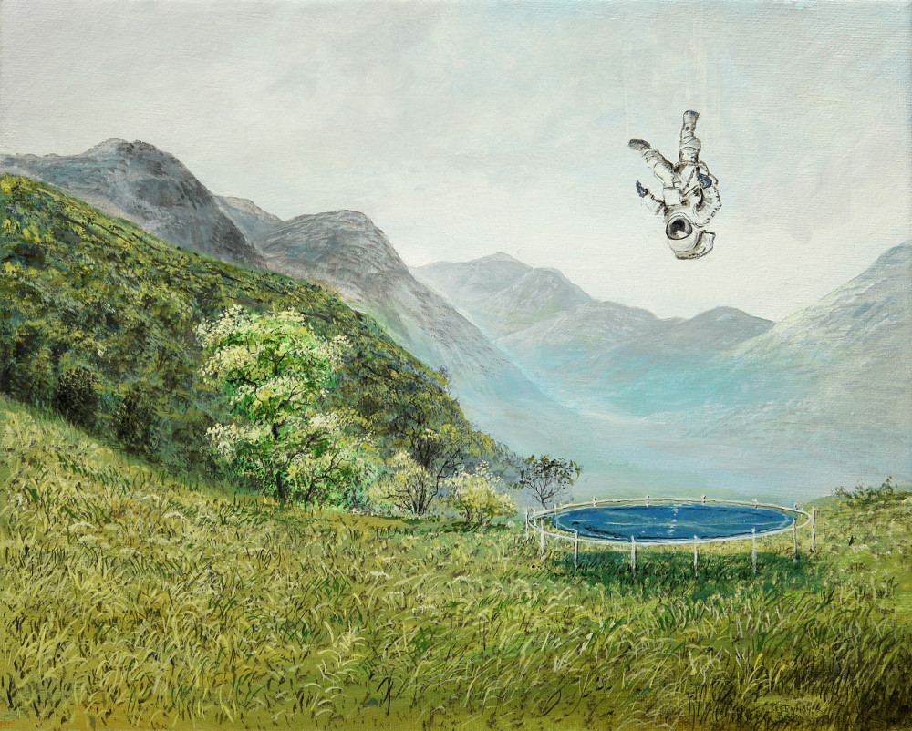 Der nächste Schritt - Ölbild / Leinwand - Gemälde von  S t e r n h a g e l