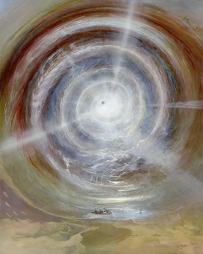 Die Relativität Des Seins - Ölbild / Holztafel - Gemälde von  S t e r n h a g e l