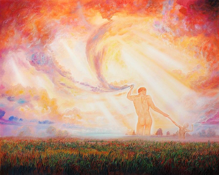 Die Wolkenmacher - Ölbild / Leinwand - Gemälde von  S t e r n h a g e l
