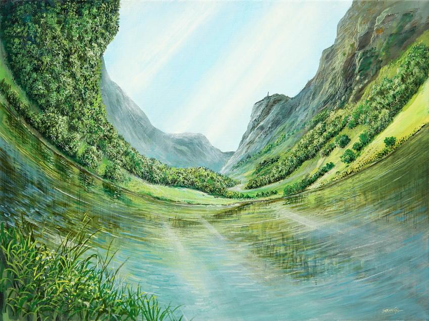 Die neue Gravitation - Ölbild / Leinwand - Gemälde von  S t e r n h a g e l