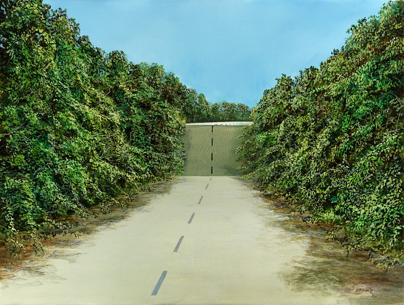 Drive Over - Ölbild / Leinwand - Gemälde von  S t e r n h a g e l