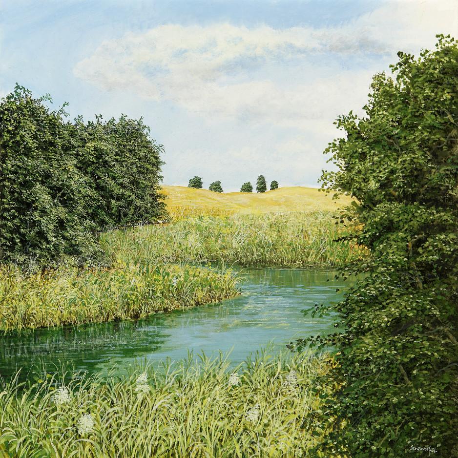 Englischer Garten - Ölbild / Leinwand - Gemälde von  S t e r n h a g e l