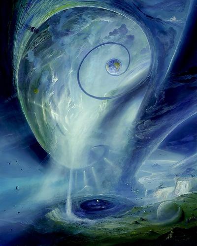 Erden-Ball-Spiel - Ölbild / Holztafel - Gemälde von  S t e r n h a g e l