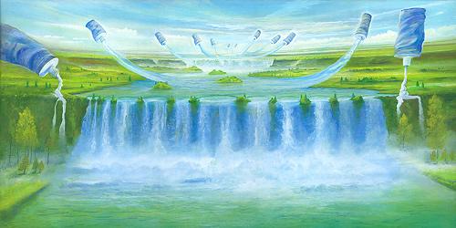 Farbfall - Ölbild / Leinwand - Gemälde von  S t e r n h a g e l