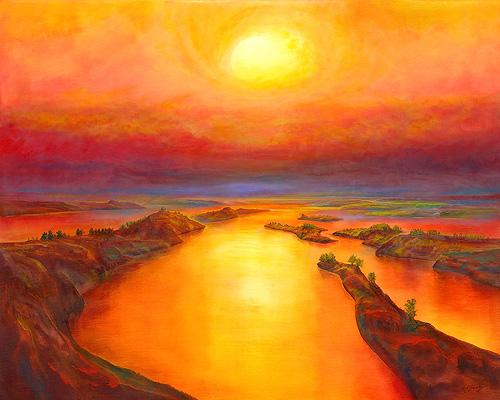 Farboase - Ölbild / Leinwand - Gemälde von  S t e r n h a g e l