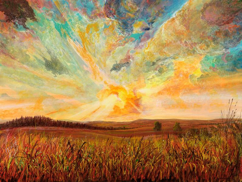 Farbtumult - Ölbild / Holztafel - Gemälde von  S t e r n h a g e l