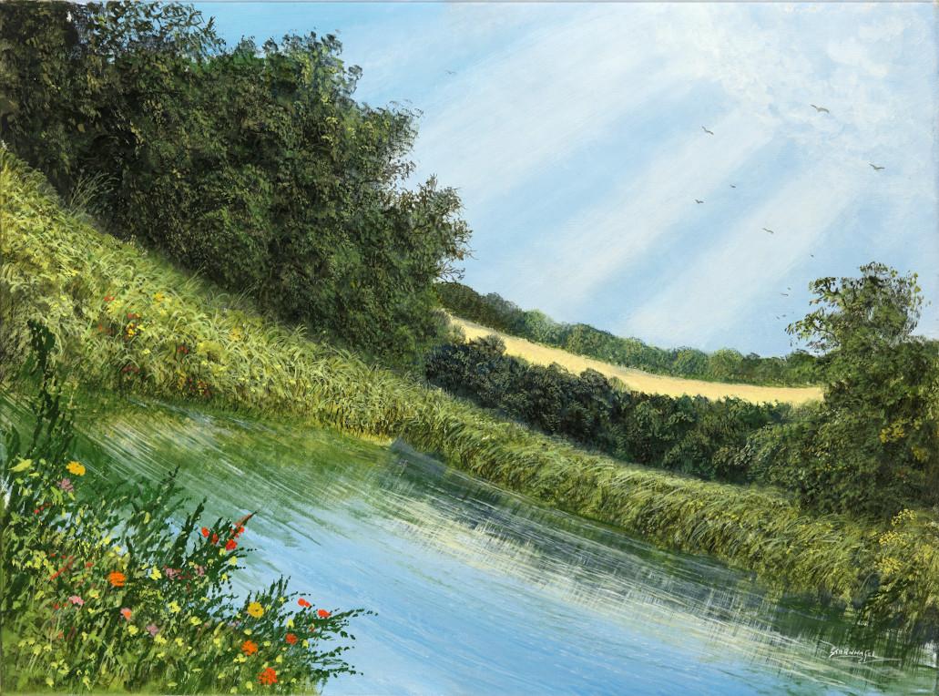Flexible Natur - Ölbild / Leinwand - Gemälde von  S t e r n h a g e l