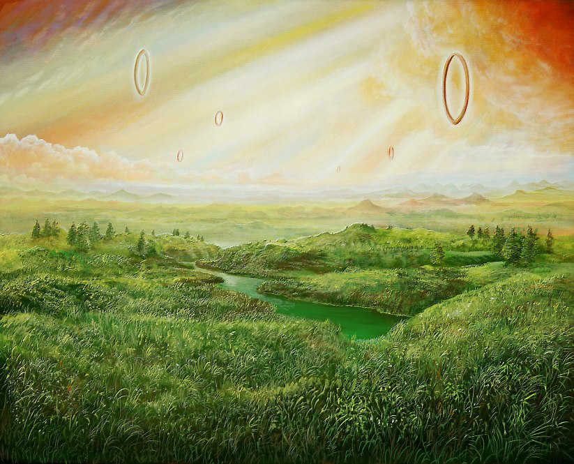 Flugringe - Ölbild / Leinwand - Gemälde von  S t e r n h a g e l