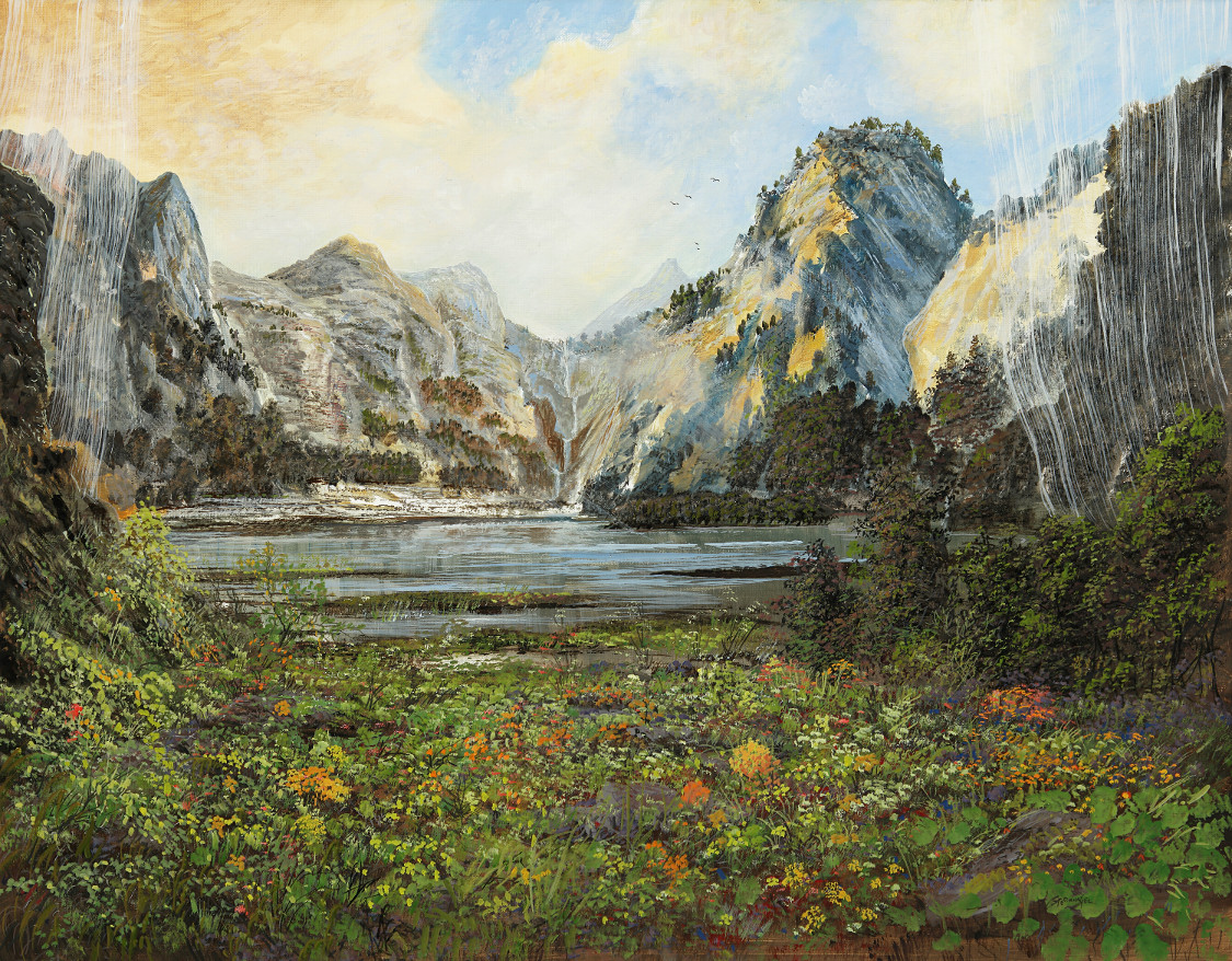 Frei nach Bierstadt - Ölbild / Leinwand - Gemälde von  S t e r n h a g e l