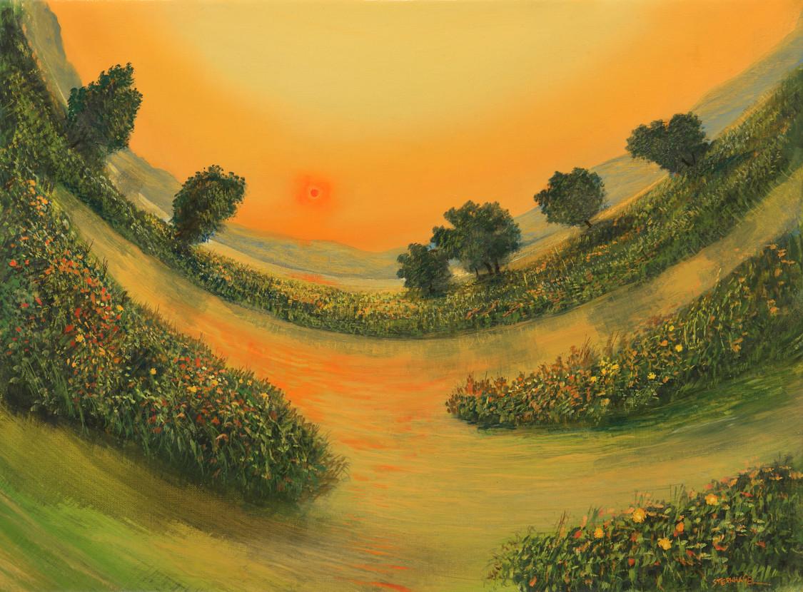 Gespannter Horizont - Ölbild / Leinwand - Gemälde von  S t e r n h a g e l