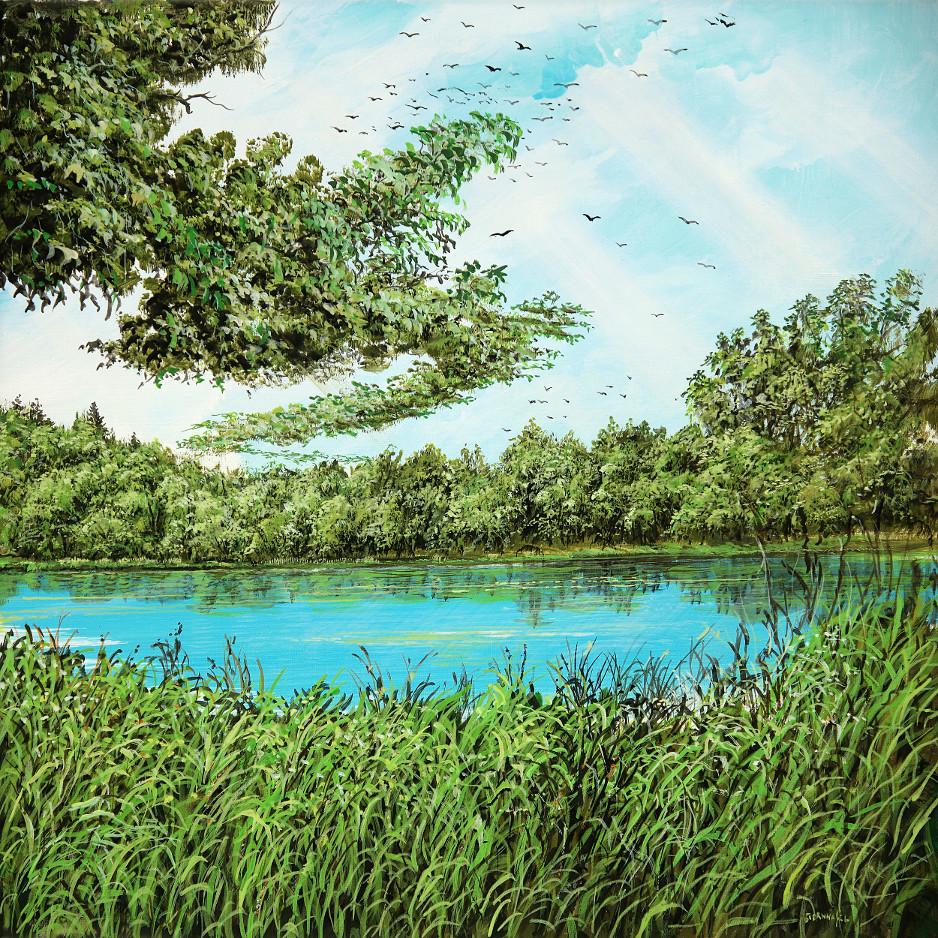 Gewachsene Wolke - Acryl / Leinwand - Gemälde von  S t e r n h a g e l