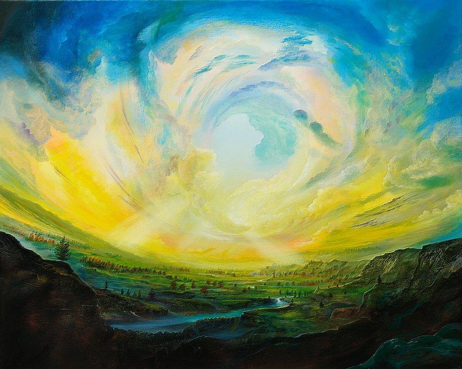 Goldsturm - Ölbild / Leinwand - Gemälde von  S t e r n h a g e l