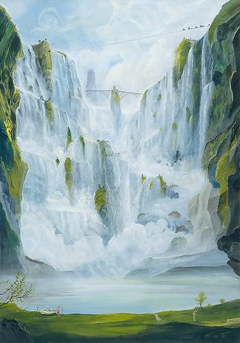 Hannibal überquert die Alpen - Ölbild / Holztafel - Gemälde von  S t e r n h a g e l