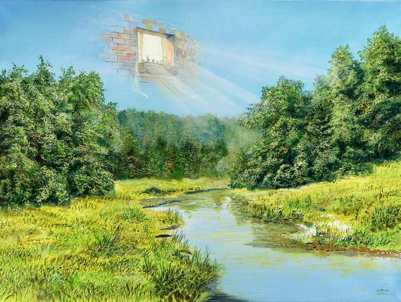 Himmelsmitbewohner - Ölbild / Leinwand - Gemälde von  S t e r n h a g e l