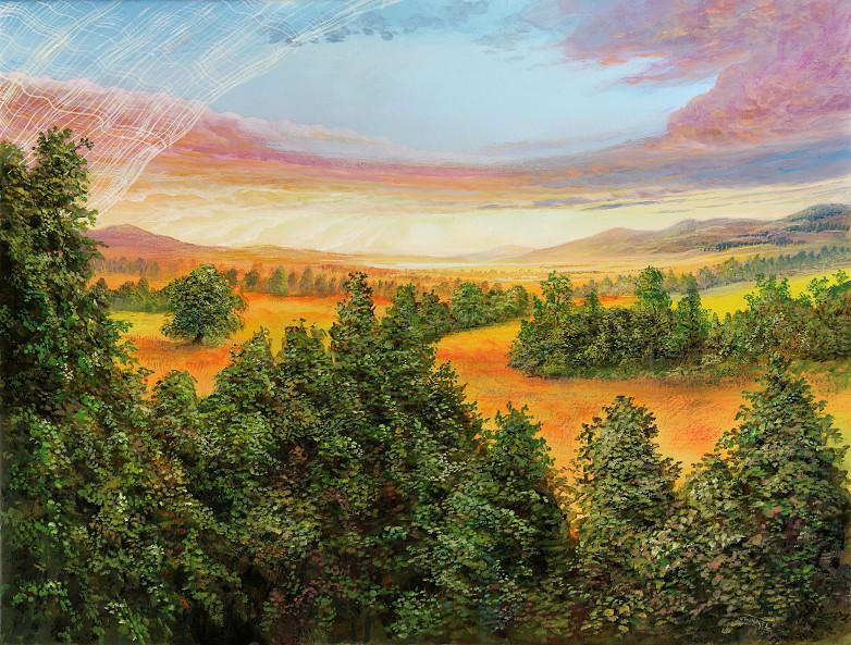 Klarer Ausblick - Ölbild / Leinwand - Gemälde von  S t e r n h a g e l
