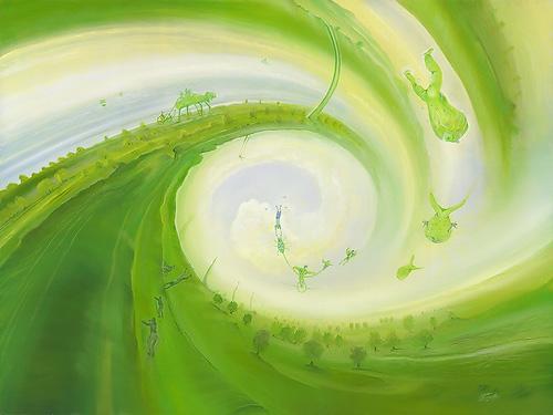 Kleine Wunder - Acryl / Holztafel - Gemälde von  S t e r n h a g e l