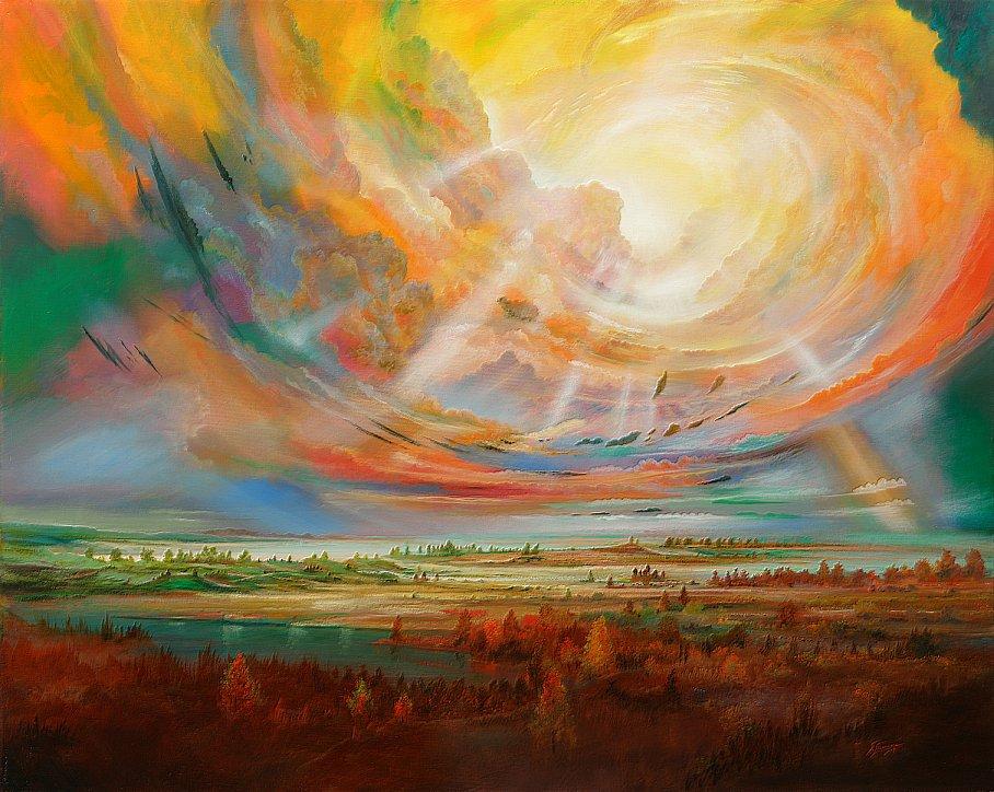 Kronzeugen des Lichtes - Ölbild / Leinwand - Gemälde von  S t e r n h a g e l
