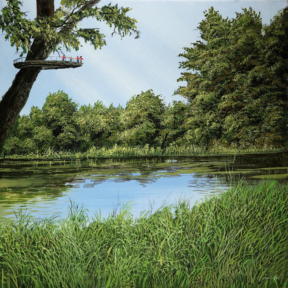 Leben in einem Baum - Ölbild / Leinwand - Gemälde von  S t e r n h a g e l