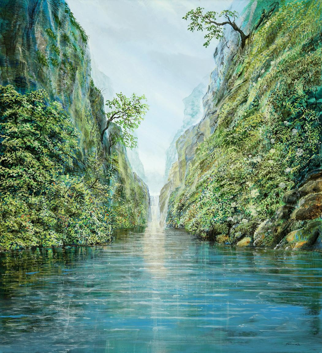 Lichtertal - Ölbild / Leinwand - Gemälde von  S t e r n h a g e l
