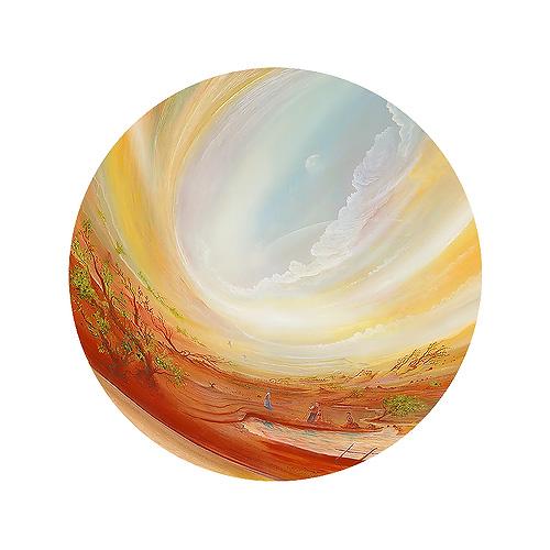 Lichtgeschwindigkeit - Ölbild / Holztafel - Gemälde von  S t e r n h a g e l