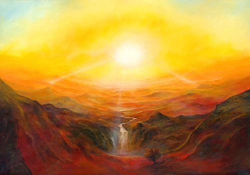 Lichtvolumen - Ölbild / Leinwand - Gemälde von  S t e r n h a g e l