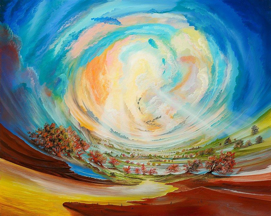 Lichtwinde - Ölbild / Leinwand - Gemälde von  S t e r n h a g e l