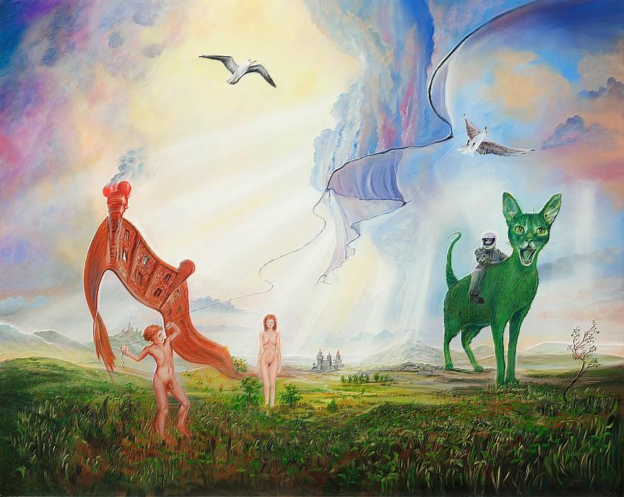 Machtverhältnisse - Ölbild / Leinwand - Gemälde von  S t e r n h a g e l