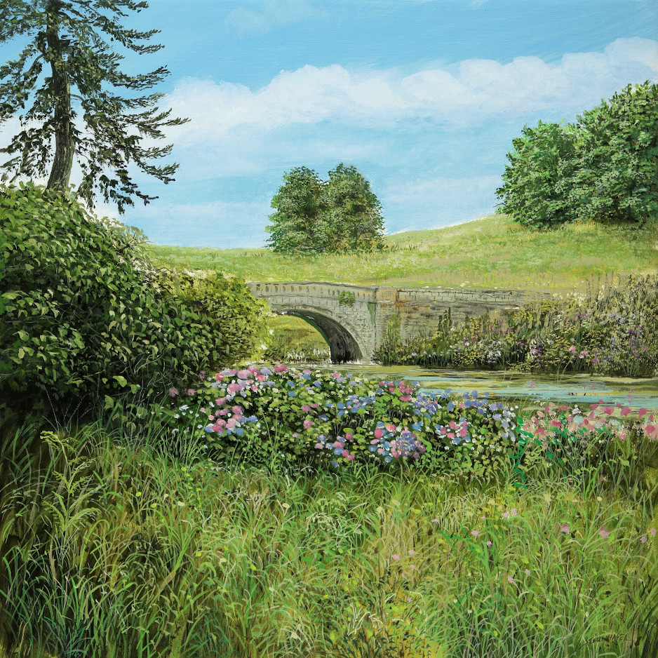 Minteret Garden 1 - Ölbild / Leinwand - Gemälde von  S t e r n h a g e l