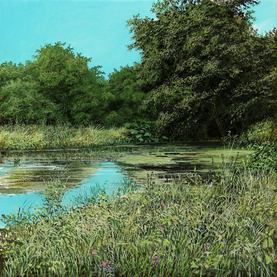Minteret Garden 2 - Ölbild / Leinwand - Gemälde von  S t e r n h a g e l