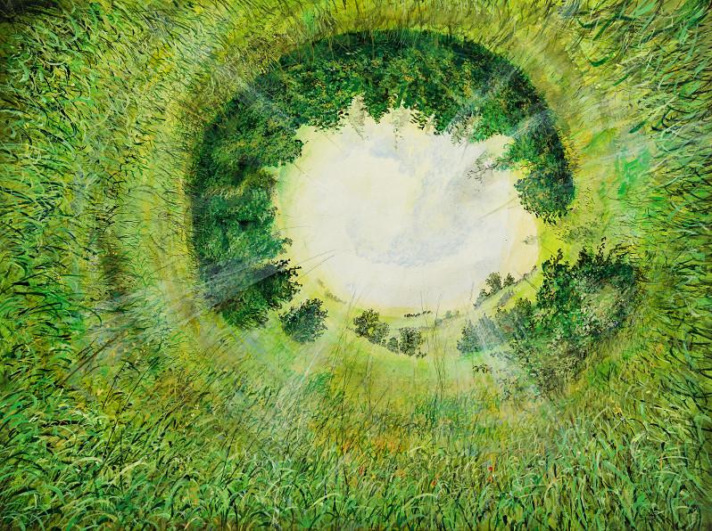 Naturformation - Ölbild / Holztafel - Gemälde von  S t e r n h a g e l