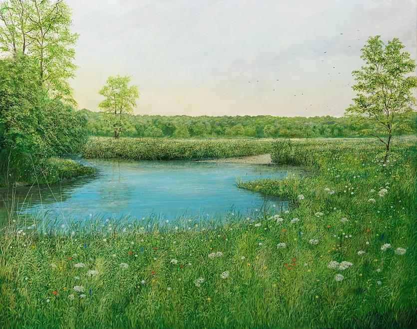 Naturuhr - Ölbild / Leinwand - Gemälde von  S t e r n h a g e l