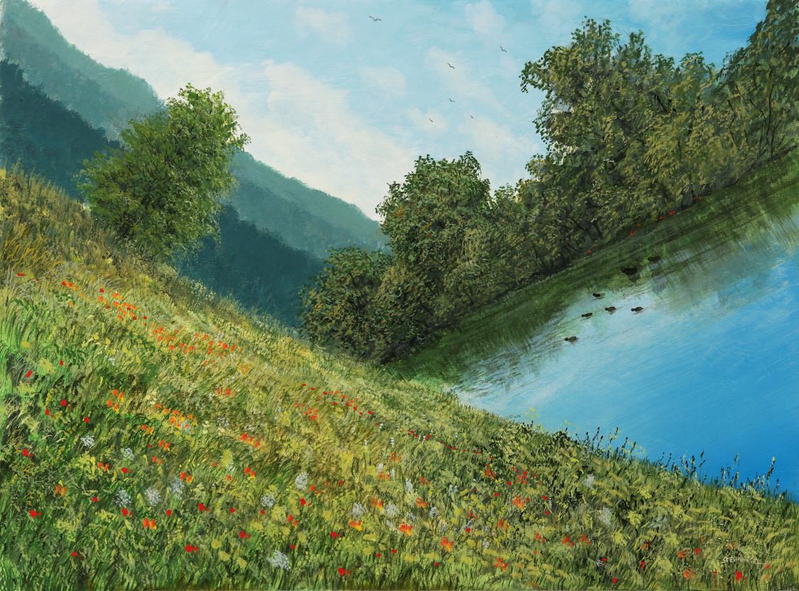 Neuordnung - Ölbild / Leinwand - Gemälde von  S t e r n h a g e l