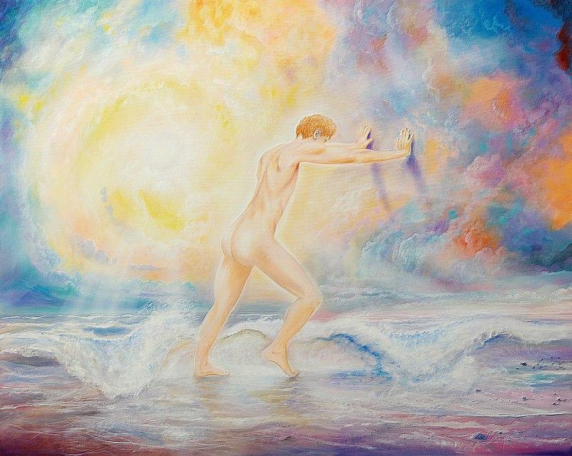 Obstaculum - Ölbild / Leinwand - Gemälde von  S t e r n h a g e l