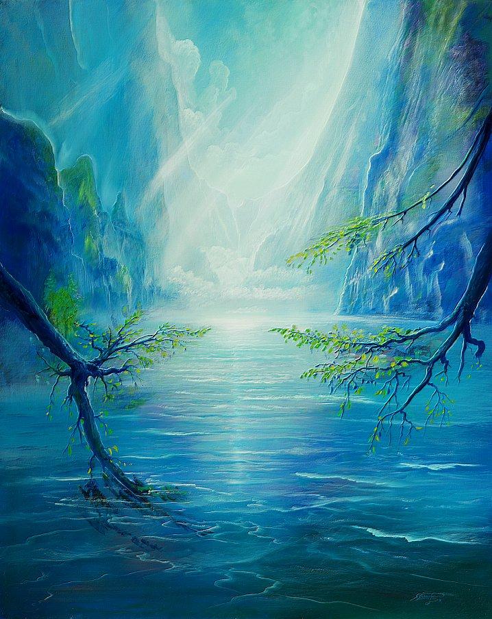 Offenbarung - Ölbild / Leinwand - Gemälde von  S t e r n h a g e l