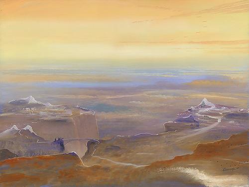 Perspektiven - Acryl / Holztafel - Gemälde von  S t e r n h a g e l