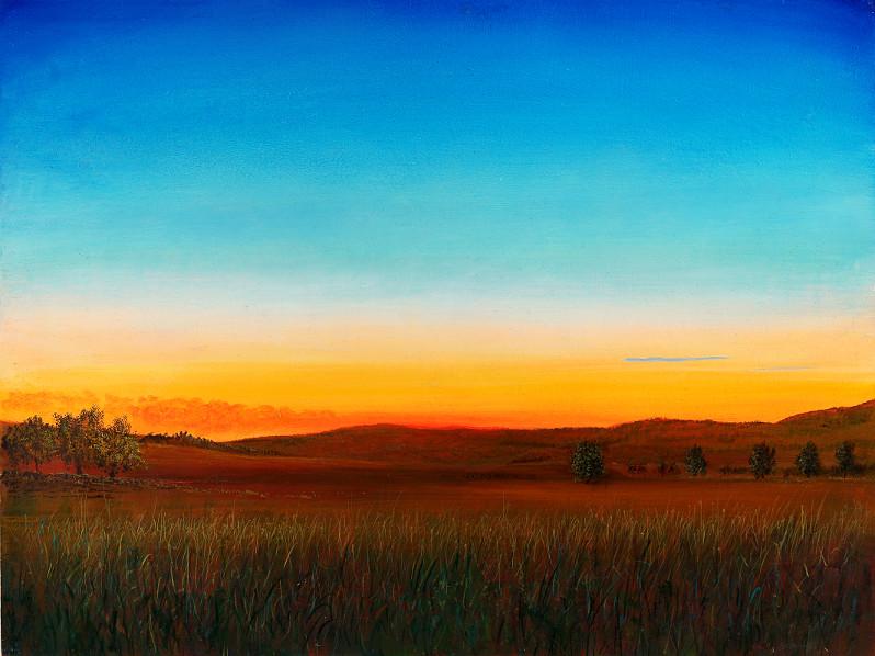 Schlesische Impression - Acryl / Holztafel - Gemälde von  S t e r n h a g e l