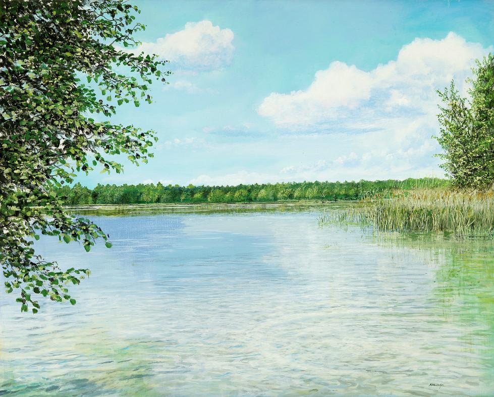 See bei Muencheberg - Ölbild / Leinwand - Gemälde von  S t e r n h a g e l