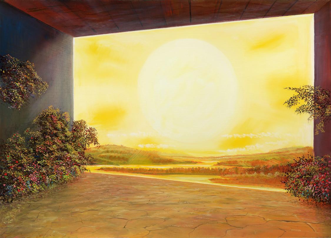 Sonnenfenster - Ölbild auf Leinwand - Gemälde von  S t e r n h a g e l