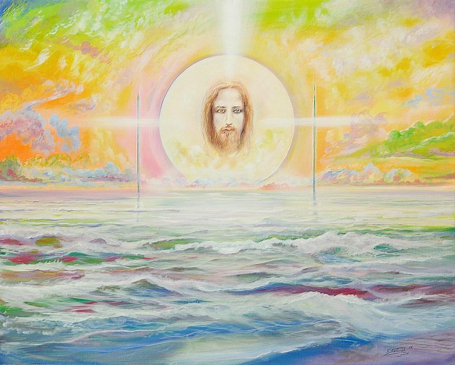 Sonnenmensch - Ölbild / Leinwand - Gemälde von  S t e r n h a g e l