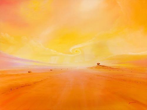 Sonnenwirbel - Ölbild / Holztafel - Gemälde von  S t e r n h a g e l