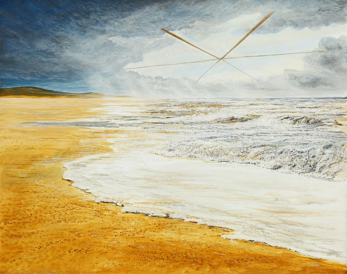 Sturmfenster - Ölbild / Leinwand - Gemälde von  S t e r n h a g e l